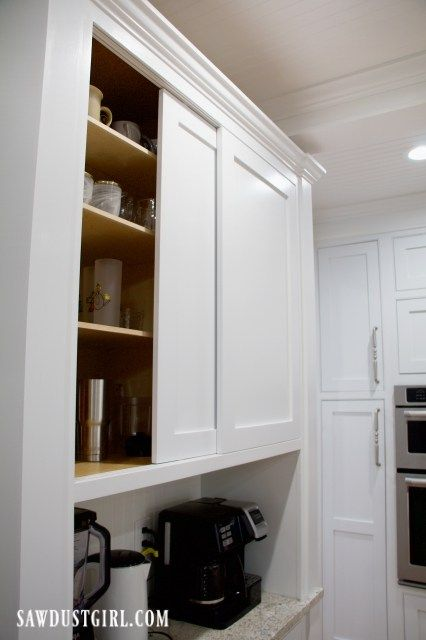 Sliding Cabinet Doors With Inset Track