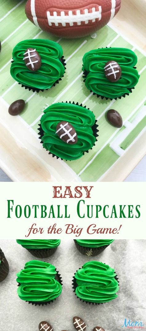 Easy Football Cupcakes Recipe Football Cupcakes Desserts