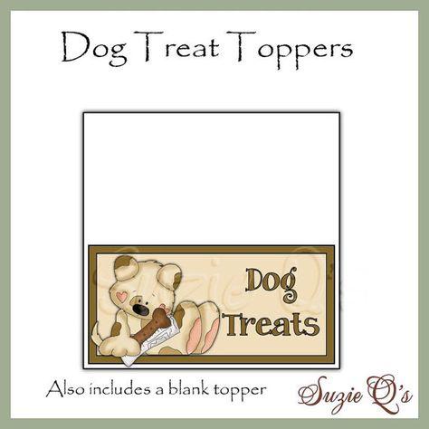Dog Treat Topper  Digital Printable  Immediate by SuzieQsCrafts, $1.25