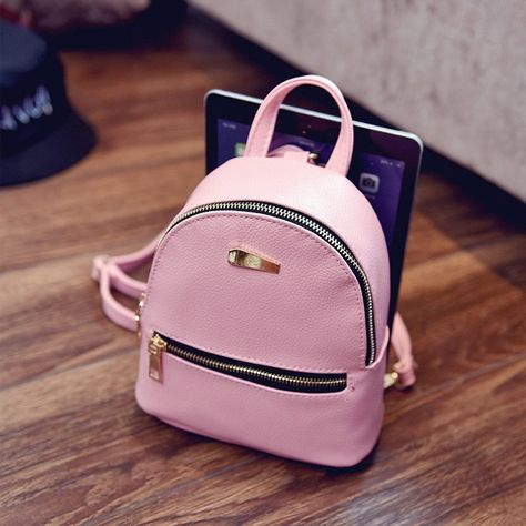 f37a7e021343 Run around hands free all day with this cute mini backpack!  minibackpack   backpack  fauxleather  pinkbackpack  minimalist