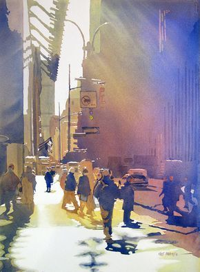 Light Traffic By Kris Parins Watercolor City Watercolor