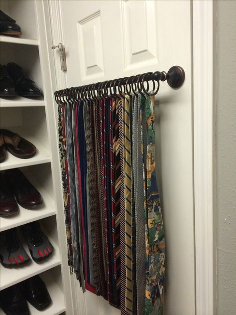 Tie Rack- Great idea for belts, scarfs, etc...