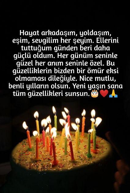 Ese Dogum Gunu Mesajlari Guzel Sozler Happy Birthday Greetings Cool Words Happy Brithday