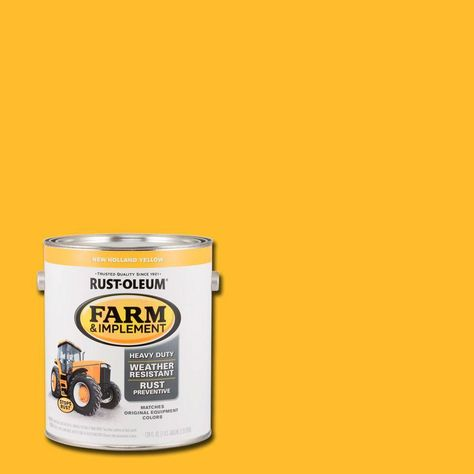 Rust Oleum 1 Gal Farm And Implement New Holland Yellow Paint