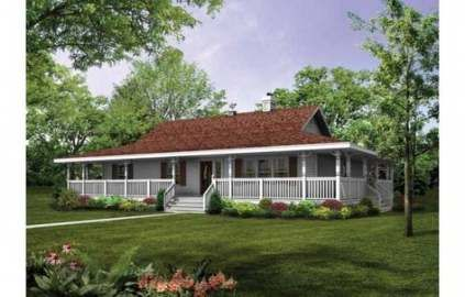 Farmhouse House Plans One Story Bathroom 68 Ideas Porch House Plans House With Porch Ranch Style House Plans
