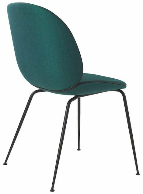 Gubi chaise Beetle pieds métal, coque rembourrée en 2019