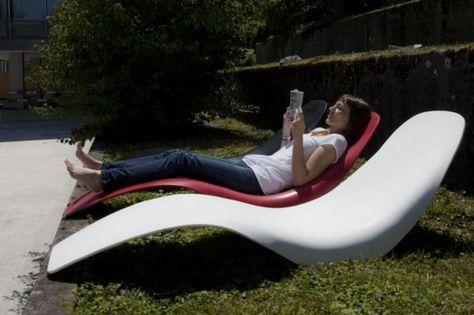 lounge-möbel-outdoor-liegestuhl-in-weiß Garten Pinterest - garten loungemobel anthrazit