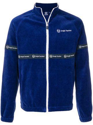 0c843a9e4 Sergio Tacchini embroidered velour track top | sergio | Tops, Adidas ...
