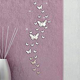 Spiegel Wand Aufkleber DIY Wandbild Aufkleber Zuhause Dekoration 30*60cm Art