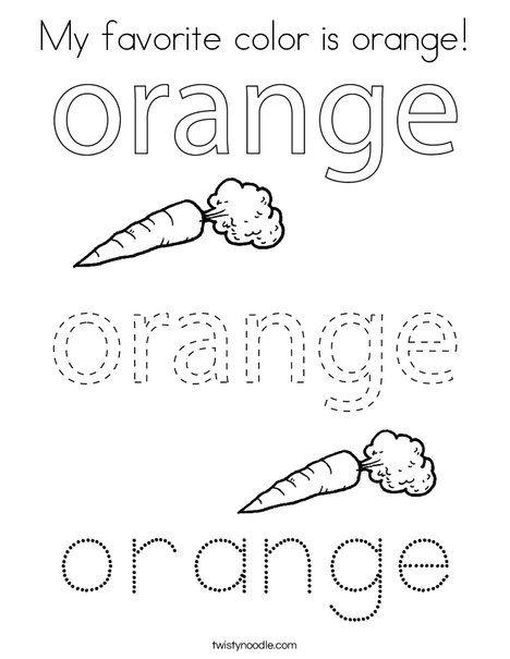 My Favorite Color Is Orange Coloring Page Twisty Noodle