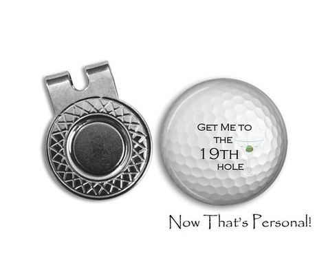 Magnetic Golf Ball Marker and hat clip set - golf ball marker - 19th h –  Jill Campa Designs - Now That s Personal! a32b68d06440