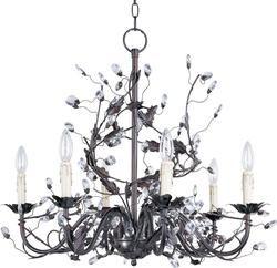 0 004540 Elegante 6 Light Chandelier Oil Rubbed Bronze