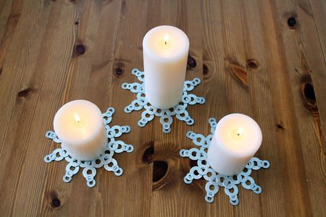Washer snowflakes | 100 Ways to Repurpose Everything