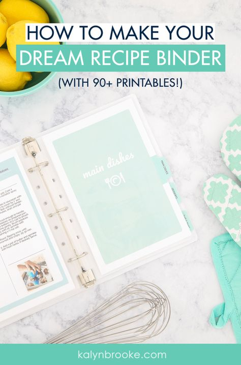 Total Recipe Organization: How to Make Your Dream Recipe Binder - I've known for a long time that I needed to organize my recipes, but just looking at a dozen cook -