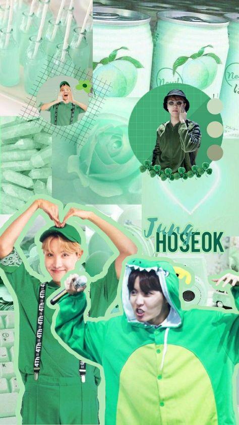 Jhope green wallpaper