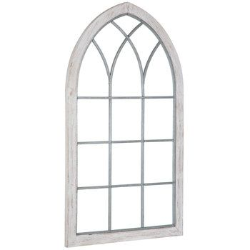White Cathedral Window Wood Wall Decor With Images Wood Wall