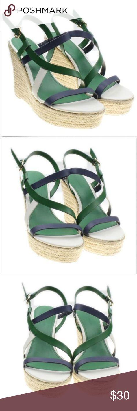 29a09cadf Tommy Hilfiger Platform Wedge Sandals Tommy Hilfiger Womens Platform Wedge  Strappy Sandals Green