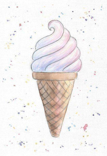Рисунки для срисовки лёгкие и красивые картинки для начинающих милые вкусняшки
