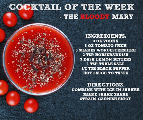 The ultimate hair of the dog! Cocktails | Cocktail recipes | Drink recipes | Happy hour | Bloody Mary | Bloody Mary recipe