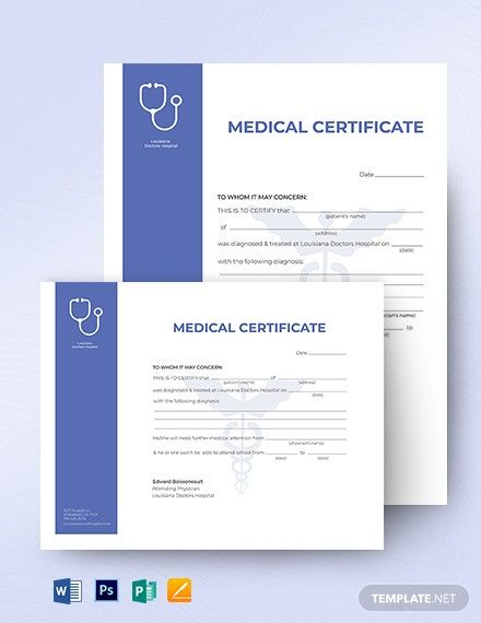 Sample Medical Certificate For Sick Leave Philippines Sansu With Regard To Fake Med Certificate Templates Certificate Format Certificate Of Completion Template