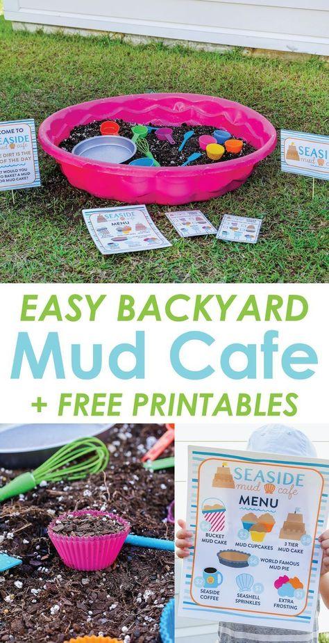 Backyard Mud Cafe: An Easy Outdoor Imaginative Play Idea for Kids