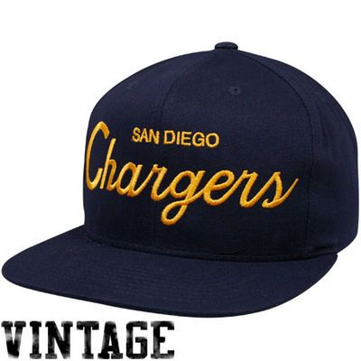 Nfl Mitchell Ness Vintage Solid Script Snapback Hat Cap Nz927 San Diego Chargers Mitchell Ness Snapback Hats
