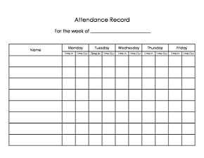 an attendance sign in and sign out sheet for parents intended for