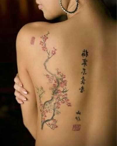 Kanji Tattoo Meaning The Perfect Choice For The Lovers Of Japanese Culture Tattooswin Blossom Tree Tattoo Cherry Blossom Tree Tattoo Japanese Flower Tattoo