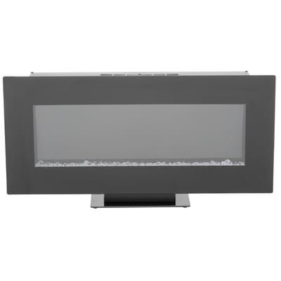 Home Decorators Collection 42 In Infrared Wall Mount Electric Fireplace In Black Sp Wall Mount Electric Fireplace Electric Fireplace Modern Electric Fireplace