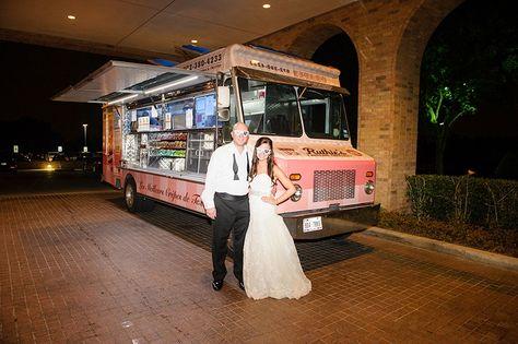 Lauren + Zach featured in @dweddings Most Popular Dallas Weddings of 2014 | Late Night Food Truck | @blombergphoto