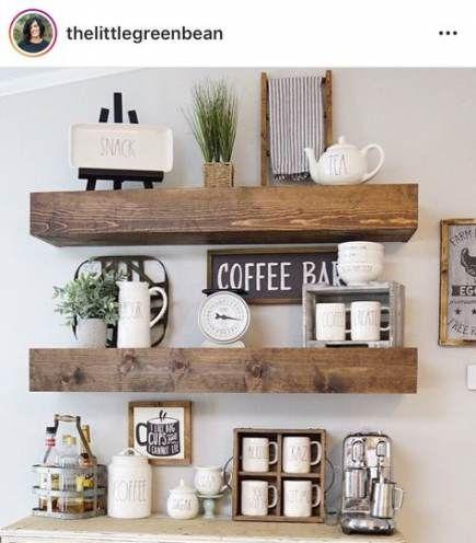 21 Ideas Farmhouse Kitchen Wall Wood Shelves Kitchen Shelf Decor