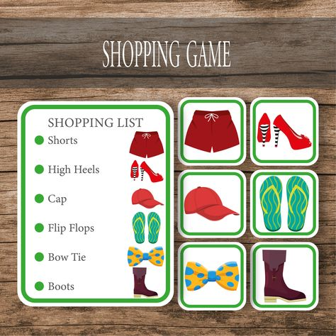 Clothes Shopping Matching Game Cards