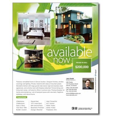 Easy to customize  - sample real estate brochure