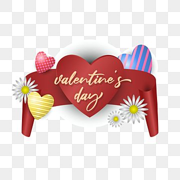 Valentines Day Illustration With Red Ribbon Valentine Red Vector Png And Vector With Transparent Background For Free Download In 2021 Valentines Day Border Chinese Valentines Valentines