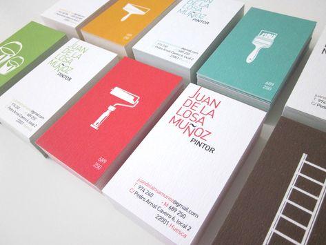 Tarjetas de visita para un pintor de brocha gorda. By Iglöo Creativo #diseño #branding