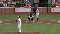Baseball Player Jonathan Villar Steals Homeplate,