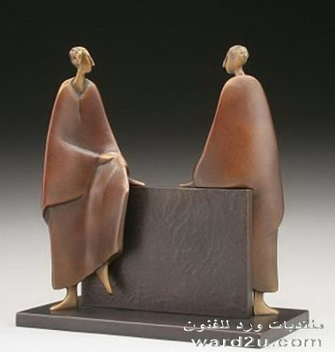 Abstract Figurative bronze sculpture by CAROL GOLD available at Columbine Gallery home of the National Sculptors' Guild Colorado's Largest Fine Art Source Specialists in Public Art