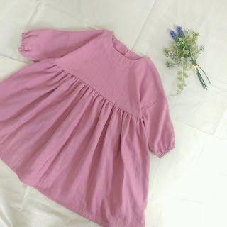 型紙 作り方 子供のナチュラルなワンピース 女の子のドレス 女の子のドレスの型紙 子供服 作り方
