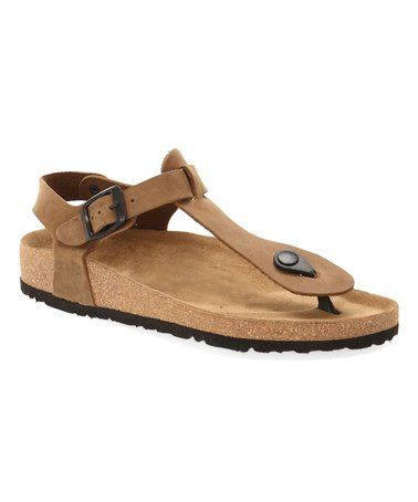 0092f24457f This Sand Gerda Leather Sandal - Women by Comfortfusse is perfect!   zulilyfinds