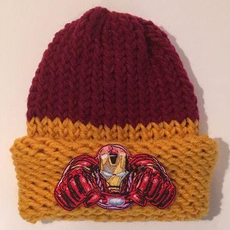 d1df15211a7 Iron Man Hat Avengers Hat Superhero Hat by JilleBeansCreations ...
