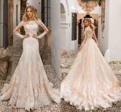 Vintage Wedding Dress Chiffon Lace Long Puff Sleeve White Ball Gown Small 0 4 Chiffon Wedding Dresses Lace Wedding Dress Chiffon White Ball Gowns