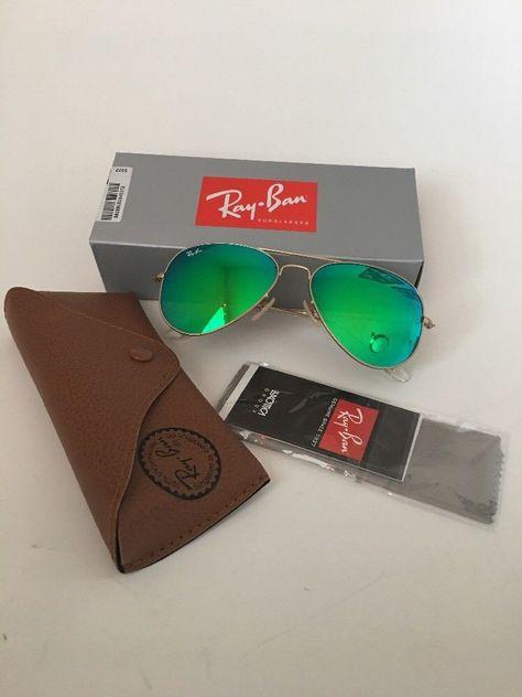 bf9facbe19 Ray-Ban Aviator Sunglasses Green Mirror Flash Lenses RB3025 112/19 58 mm # RayBan #Aviator