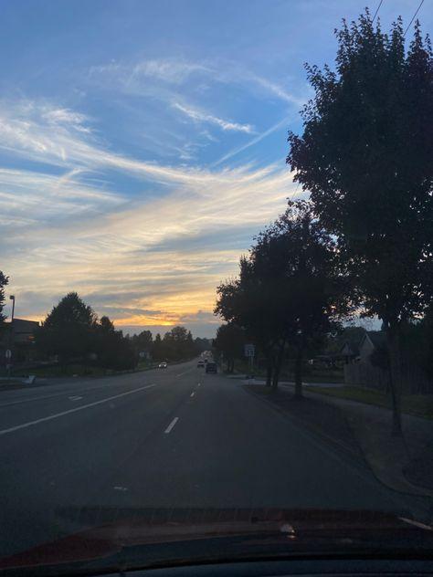 #sky #clouds #sunset #nofilter