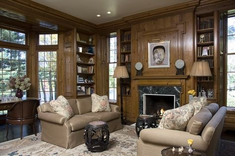 "Lovely paneled library room from ""M (Group)"""