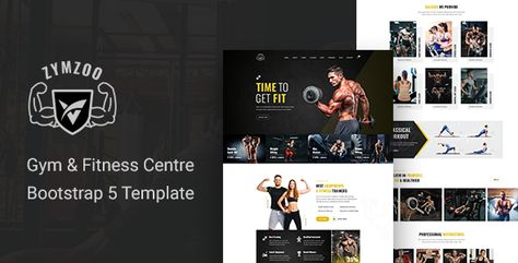 Zymzoo — Gym & Fitness Centre Bootstrap 5 Template   Stylelib