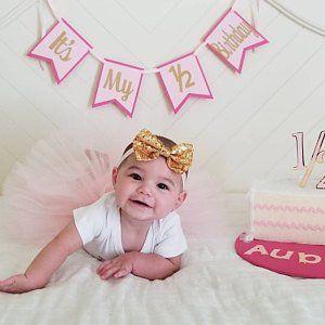 1 2 Birthday Cake Etsy Half Birthday Baby 6 Month Baby Picture Ideas Happy Half Birthday