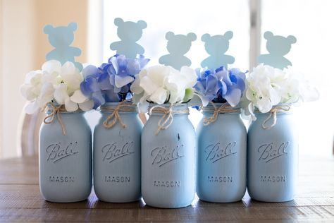 45 Ideas Baby Shower Ideas For Boys Decorations Elephant Mason Jars For 2019