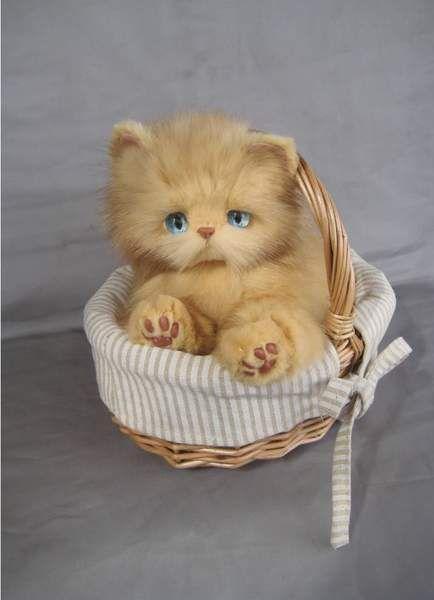 Light Brown Kitten Natu By Carolontoys Brown Kitten Cats And