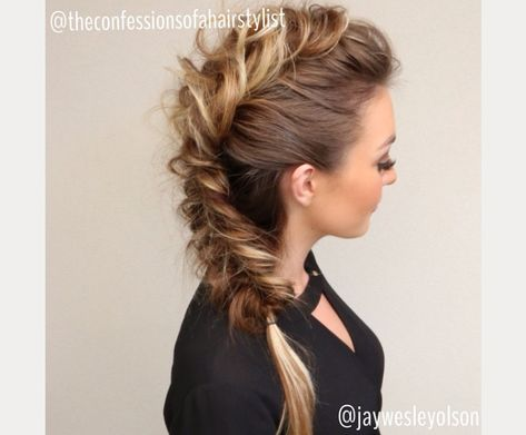 braided faux hawk ~ we ❤ this! moncheriprom.com