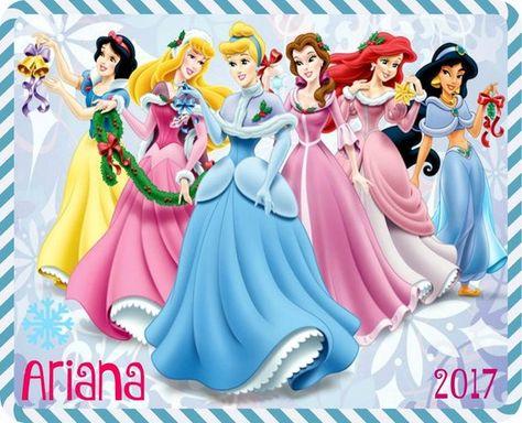 Personalized Disney Princess 2017 Christmas Glass Ornament- Girls Christmas Gift